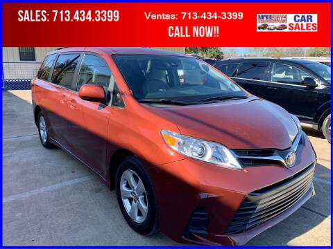 2018 Toyota Sienna for sale at HOUSTON CAR SALES INC in Houston TX