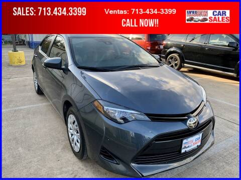 2018 Toyota Corolla for sale at HOUSTON CAR SALES INC in Houston TX
