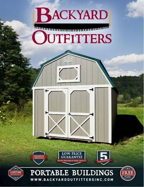 Backyard Outfitters, Inc. Portable Buildings for sale at SUPERIOR MOTORS in Latrobe PA