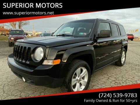 2012 Jeep Patriot for sale at SUPERIOR MOTORS in Latrobe PA