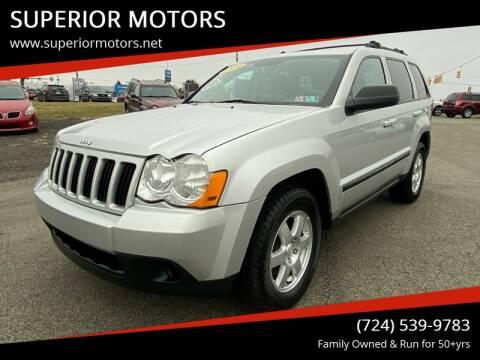 2009 Jeep Grand Cherokee Laredo for sale at SUPERIOR MOTORS in Latrobe PA