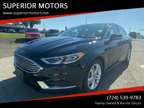 2018 Ford Fusion for sale at SUPERIOR MOTORS in Latrobe PA