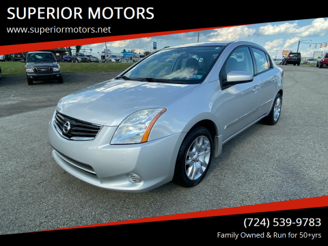 2010 Nissan Sentra for sale at SUPERIOR MOTORS in Latrobe PA