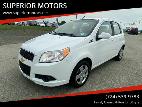 2011 Chevrolet Aveo for sale at SUPERIOR MOTORS in Latrobe PA