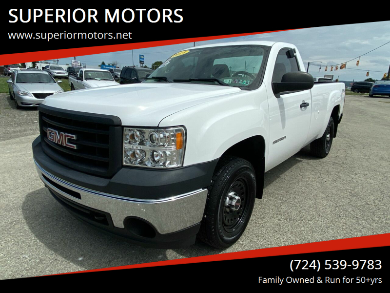 2013 GMC Sierra 1500 for sale at SUPERIOR MOTORS in Latrobe PA