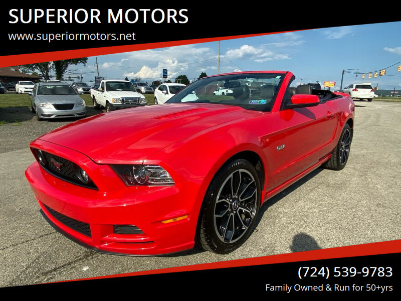 2013 Ford Mustang for sale at SUPERIOR MOTORS in Latrobe PA