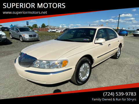 1998 Lincoln Continental for sale at SUPERIOR MOTORS in Latrobe PA
