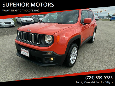2015 Jeep Renegade for sale at SUPERIOR MOTORS in Latrobe PA