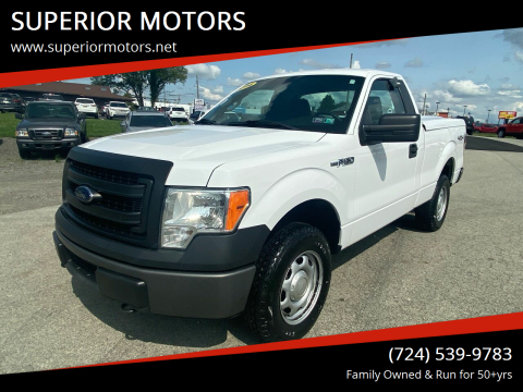 2014 Ford F-150 for sale at SUPERIOR MOTORS in Latrobe PA