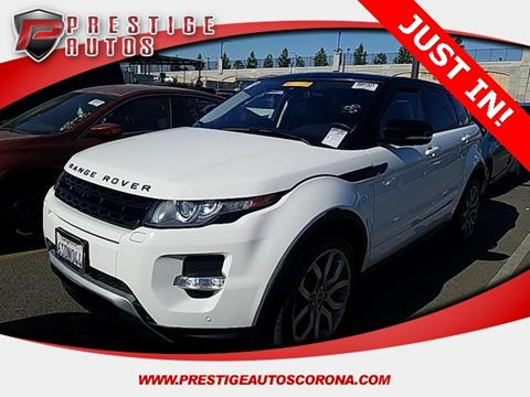 2012 Land Rover Range Rover Evoque for sale in Corona, CA