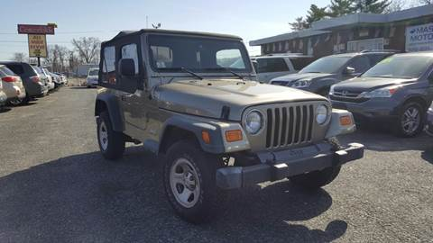 2003 Jeep Wrangler for sale in Worcester, MA