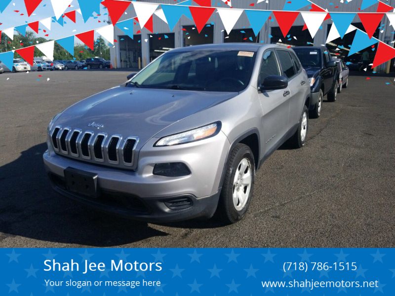 2016 Jeep Cherokee for sale at Shah Jee Motors in Woodside NY