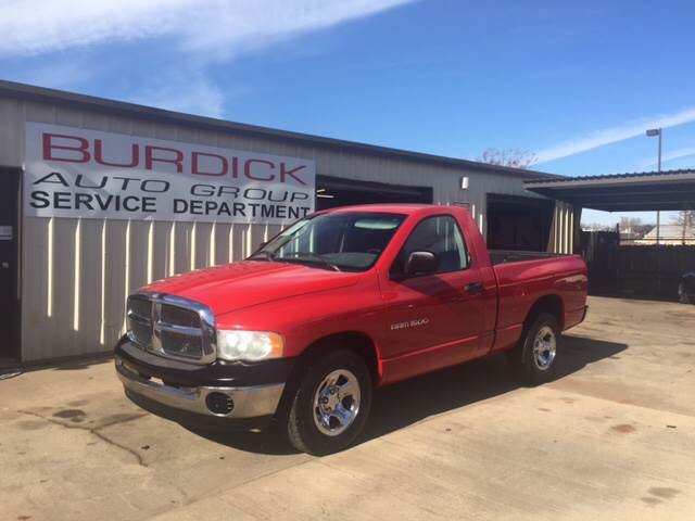 2002 Dodge Ram Pickup 1500 2dr Regular Cab ST 2WD SB - Wichita Falls TX