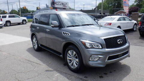 2017 Infiniti QX80 for sale at Quattro Motors 2 - 1 in Redford MI