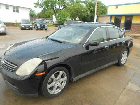 2003 Infiniti G35 for sale at CARDEPOT in Fort Worth TX