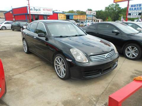 2004 Infiniti G35 for sale at CARDEPOT in Fort Worth TX