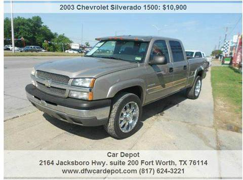 2003 Chevrolet Silverado 1500HD for sale at Car Depot in Fort Worth TX