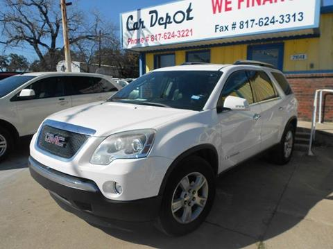 2008 GMC Acadia for sale at CARDEPOT in Fort Worth TX