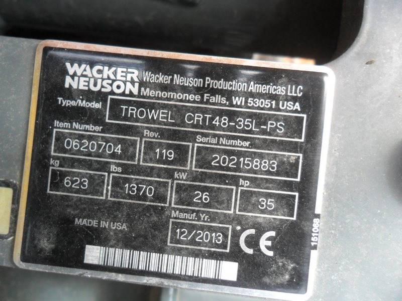 2014 Wacker Neuson CRT-48 35L-PS - Wisconsin Rapids WI
