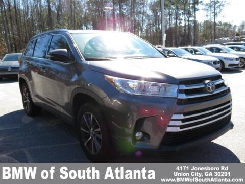 2018 Toyota Highlander XLE for sale at BMW of South Atlanta in Union City GA