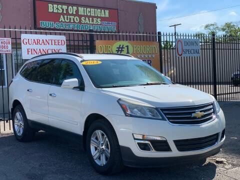2014 Chevrolet Traverse for sale at Best of Michigan Auto Sales in Detroit MI