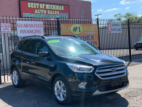 2018 Ford Escape for sale at Best of Michigan Auto Sales in Detroit MI