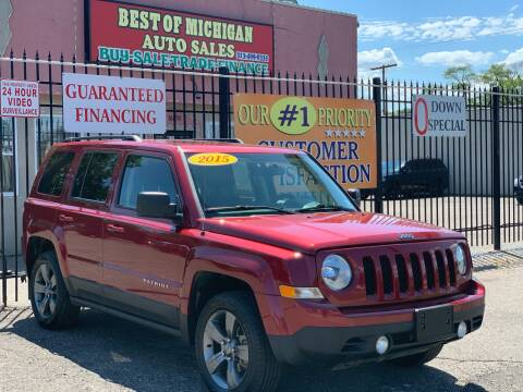 2015 Jeep Patriot for sale at Best of Michigan Auto Sales in Detroit MI