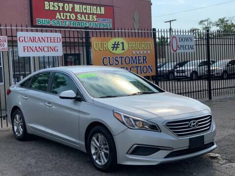 2017 Hyundai Sonata for sale at Best of Michigan Auto Sales in Detroit MI