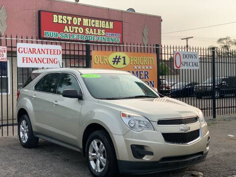 2013 Chevrolet Equinox for sale at Best of Michigan Auto Sales in Detroit MI