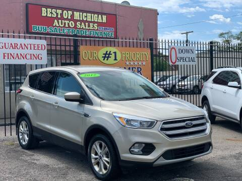 2017 Ford Escape for sale at Best of Michigan Auto Sales in Detroit MI