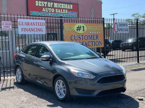 2016 Ford Focus for sale at Best of Michigan Auto Sales in Detroit MI