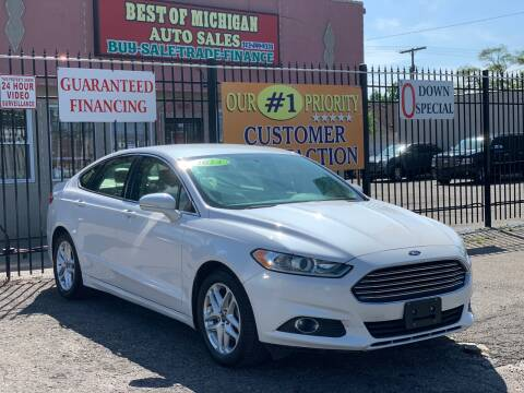 2014 Ford Fusion for sale at Best of Michigan Auto Sales in Detroit MI