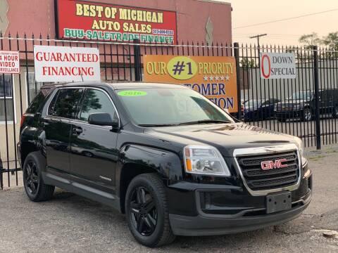 2016 GMC Terrain for sale at Best of Michigan Auto Sales in Detroit MI
