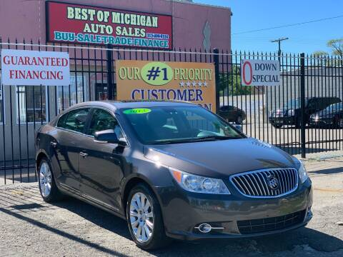 2013 Buick LaCrosse for sale at Best of Michigan Auto Sales in Detroit MI
