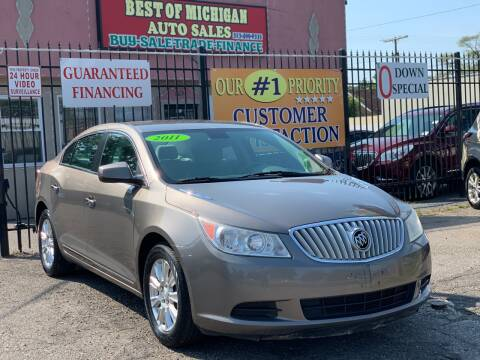 2011 Buick LaCrosse for sale at Best of Michigan Auto Sales in Detroit MI