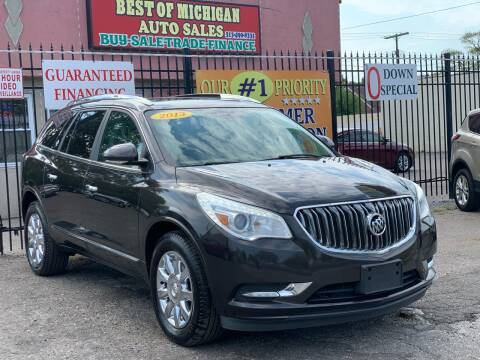 2013 Buick Enclave for sale at Best of Michigan Auto Sales in Detroit MI