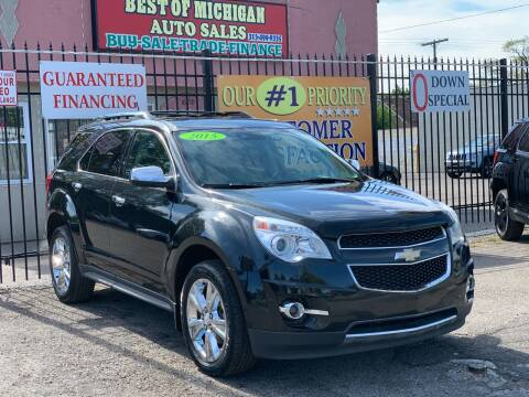 2015 Chevrolet Equinox for sale at Best of Michigan Auto Sales in Detroit MI
