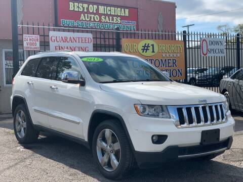 2012 Jeep Grand Cherokee for sale at Best of Michigan Auto Sales in Detroit MI