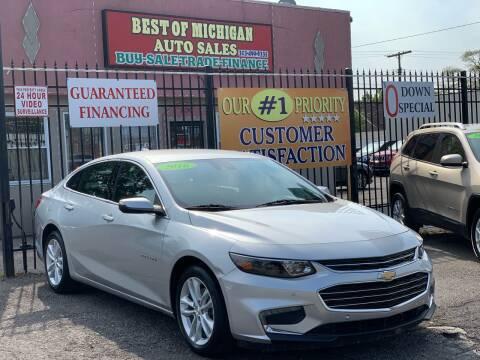 2016 Chevrolet Malibu for sale at Best of Michigan Auto Sales in Detroit MI