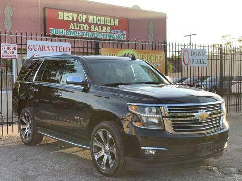 2016 Chevrolet Tahoe for sale at Best of Michigan Auto Sales in Detroit MI