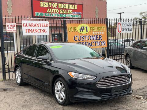 2016 Ford Fusion for sale at Best of Michigan Auto Sales in Detroit MI