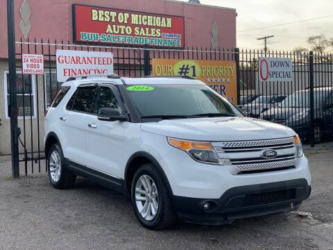 2014 Ford Explorer for sale at Best of Michigan Auto Sales in Detroit MI