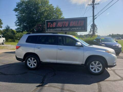 2012 Toyota Highlander for sale at T & G Auto Sales in Florence AL