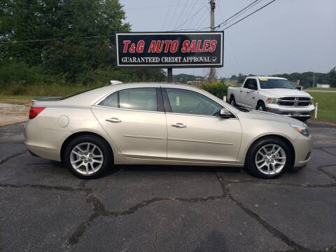 2015 Chevrolet Malibu for sale at T & G Auto Sales in Florence AL
