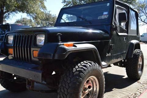 1995 Jeep Wrangler for sale at E-Auto Groups in Dallas TX