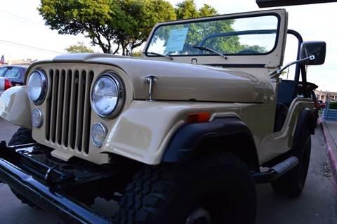 1979 Jeep CJ-5 for sale at E-Auto Groups in Dallas TX