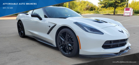 2016 Chevrolet Corvette for sale at AFFORDABLE AUTO BROKERS in Keller TX