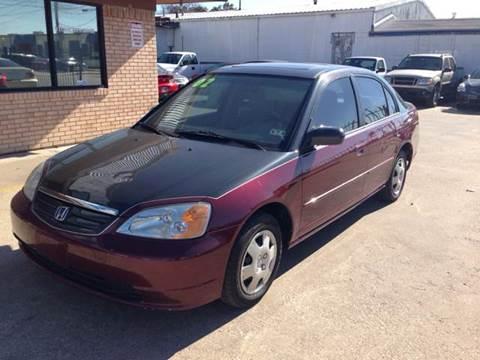 2002 Honda Civic for sale at Sima Auto Sales in Dallas TX