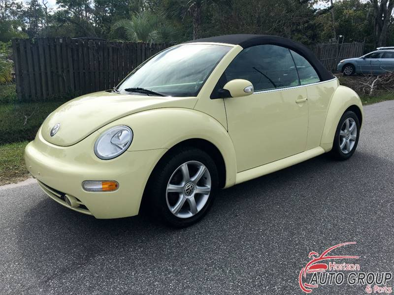2004 volkswagen new beetle 2dr gls 1 8t turbo convertible in orlando fl horizon auto group inc. Black Bedroom Furniture Sets. Home Design Ideas