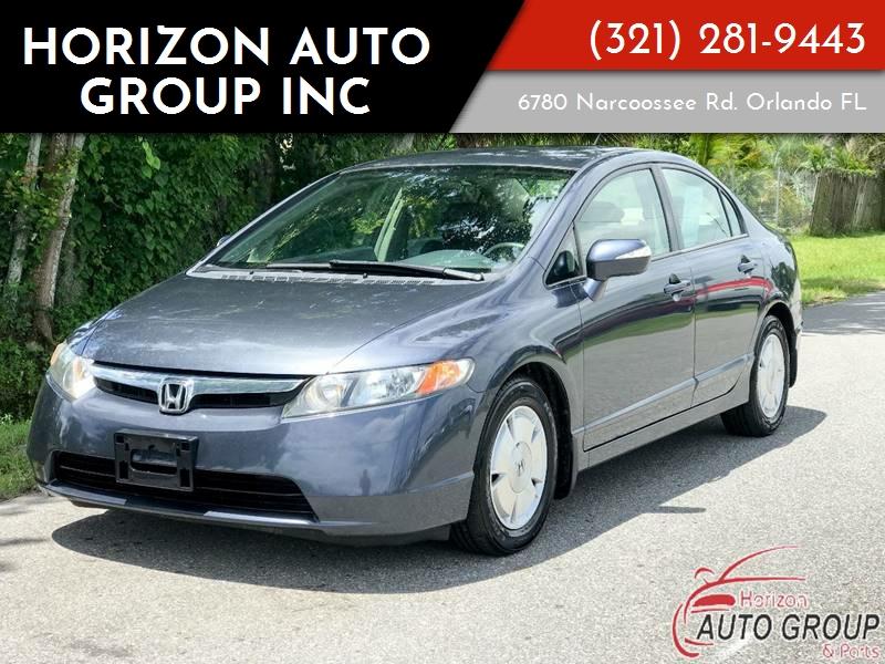 2006 Honda Civic Hybrid 4dr Sedan In Orlando Fl Horizon Auto Group Inc